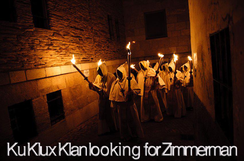 Ku Klux Klan looking for Zimmerman