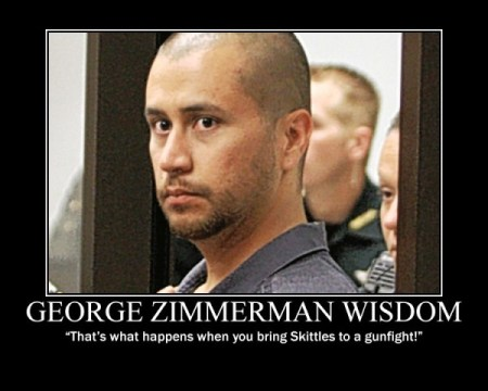 zimmerman skittles to fight