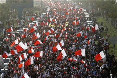 ' Protests in Manama in 2011 '
