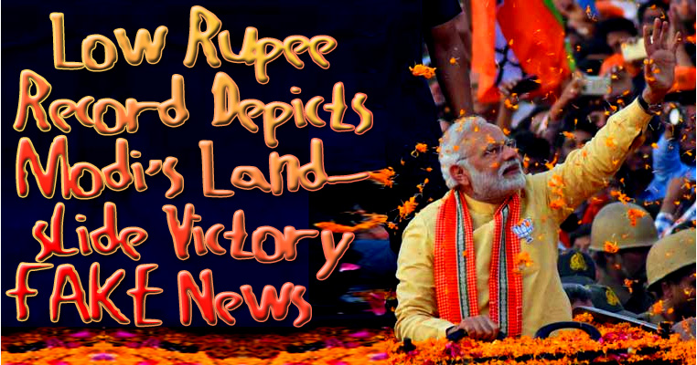 ☕️ Low Rupee Record Depicts Modi's Landslide Victory Fake News ☕️