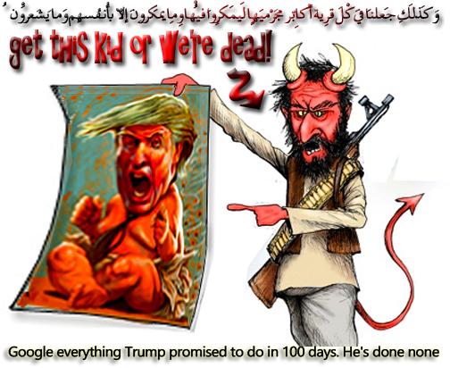 🔱Google everything Trump promised to do in 100 days. He's done none🔱 وَكَذَٰلِكَ جَعَلْنَا فِي كُلِّ قَرْيَةٍ أَكَابِرَ مُجْرِمِيهَا لِيَمْكُرُوا فِيهَا ۖ وَمَا يَمْكُرُونَ إِلَّا بِأَنفُسِهِمْ وَمَا يَشْعُرُونَ