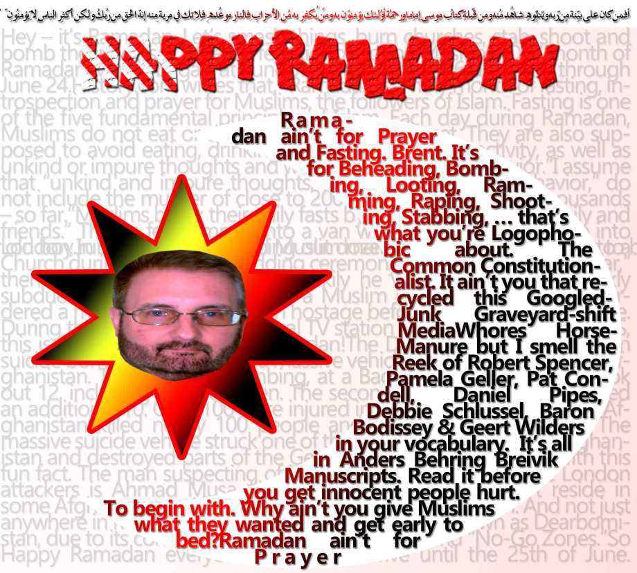 "Hey – it's Ramadan. Let's smash things, burn churches, stab, shoot and bomb the infidels. It's the perfect kick off to the Muslim HOLY month of Ramadan, which began at sundown Friday, May 26 and runs through June 24.History.com writes that, ""Ramadan is a holy month of fasting, introspection and prayer for Muslims, the followers of Islam. Fasting is one of the five fundamental principles of Islam. Each day during Ramadan, Muslims do not eat or drink from sunrise to sunset. They are also supposed to avoid eating, drinking, smoking and sexual activity, as well as unkind or impure thoughts and words, and immoral behavior.""I assume that ""unkind and impure thoughts,"" as well as ""immoral behavior,"" do not include the murder of close to 200 people, and injury to thousands – so far.""Muslims break their daily fasts by sharing meals with family and friends."" Then a few jumped into a van with 12 inch knives, drove into London, running over and wiping out dozens, before exiting the van to begin stabbing as many as they could before armed police finally killed them.""Ramadan is a time to practice self-restraint and self-reflection. Muslims go to work and school and take care of their usual activities during Ramadan; however, some also read the entire Quran, say special prayers and attend mosques more frequently during this time.""Yes, some attend Mosques more frequently. Others, like in the Philippines, chose instead to visit a Christian Church.Upon arrival to the Church, instead of praying, the Muslim ""visitors"" threw Christian statues to ground, smashing and stomping on them. Not satisfied with the destruction, they set the Church on fire. Happy Ramadan!Still another Islamist whack-job entered a Manila hotel and casino and set it ablaze, killing 40 guests.There have been close to 200 killed so far and Ramadan just begun. Only10 days in and there has also been massive property damage, not to mention the fear of future attack that is mentally weighing on people.This is real terrorism. Terrorism isn't just about blowing ones-self up and killing infidels.It's also about the purposeful and entirely intended consequence of putting the fear of Allah into people. And it's working.People, especially those in Europe, are so terrified and so paranoid, that the sound of a car backfiring or a single firecracker can set a human stampede in motion.For example, last Saturday night, there was a soccer match taking place in a stadium in Turin, Italy.Apparently a single firecracker was set off in the stadium, possibly as a prank, or to celebrate the game. What followed was no celebration. It was terror. Figuring it was an attack, the fans in the stadium began running for the exits like so many petrified cattle, trampling and crushing others.In all, over 1500 people where hurt, some critically, including a seven year old boy.In Spain, a 22 year old Muslim man from Morocco broke into a Church during a Christian wedding ceremony, screaming ""Allahu akbar,"" then tried to attack the priest. Luckily he was unarmed and quickly subdued.In Melbourne Australia, a Muslim man, out on parole, murdered a man and took a woman hostage before he was killed by police. During the ordeal he called a local TV station and claimed, ""This is for IS, this is for al-Qaeda."" Happy Ramadan!The Daily Caller reports of twin suicide bombings in Iraq and a massive vehicle bomb attack in Kabul Afghanistan. The first Iraqi bombing, at a Bagdad Ice Cream Shop, took out 12, including small children. The second, at an elderly center, killed an additional 10. Over 100 were injured in the two.""The bombing in Afghanistan killed nearly 100 people and injured hundreds more. The massive suicide vehicle struck one of the safest areas of Kabul in Afghanistan and destroyed parts of the German embassy.""I leave you with this fun fact. The man suspecting of influencing at least one of the London attackers is Ahmad Musa Jibril.The jihadi preacher doesn't reside in some Afghan cave or Libyan hell-hole. He lives in Michigan. And not just anywhere in Michigan. Jibril lives in Dearborn, also known as Dearbornistan, due to its concentrated Muslim population and ""No-Go Zones.""So Happy Ramadan everyone! May we survive until the 25th of June."