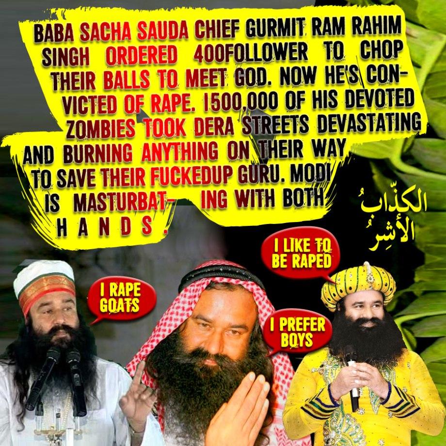 Baba Sacha Sauda chief Gurmit Ram Rahim Singh