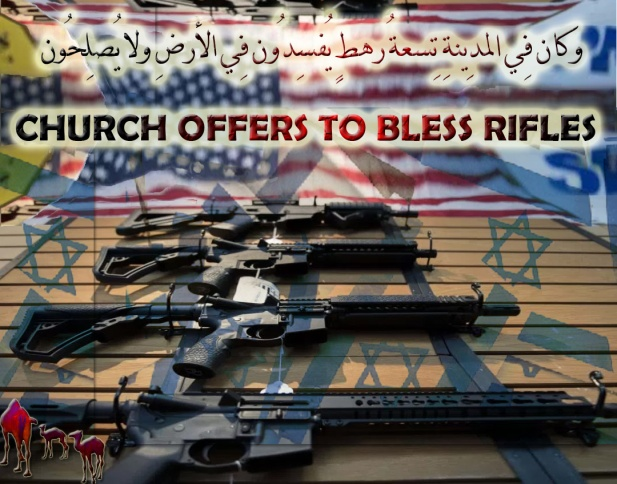 "🐫CHURCH OFFERS TO BLESS RIFLES. YES, There Is a Clear Link Between Mass Shootings and Mental Illness. Psst: TRUMP and His RNA Zombies Trumpsters Wished That The Shooter is a Muslim. Here's a Loose Change… THE THREE BIG ONES; Columbine High School massacre, Sandy Hook Elementary School shooting and Florida School Shooting Are Carried Out by An Ignored, Neglected, Unattended, Untended, Castaway, Cast-off, Discarded, Jettisoned, Junked,Godforsaken, and Miserable Deranged ISRAELI BOY. Tucker Carlson Jews won't get over it. CNN Told Me ""I Needed To Stick To The Script""; They Scripted Entire Town Hall. WTF!Colton Haab Thought That Nikolas Cruz Will Shoot Some Honiggas, Asians or Latinos Not White Kids..وإِذا وقع القولُ عليهِم أخرجنا لهُم دابّةً مِّن الأرضِ تُكلِّمُهُم🐪"